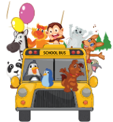 Car with cartoon animals